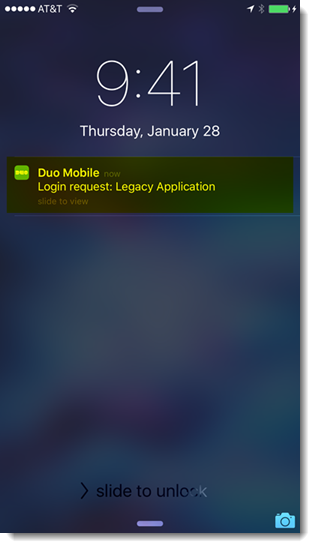 duo moblie login request notification