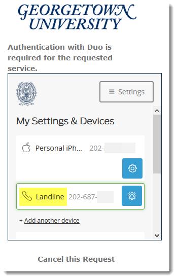 landline added confirmation