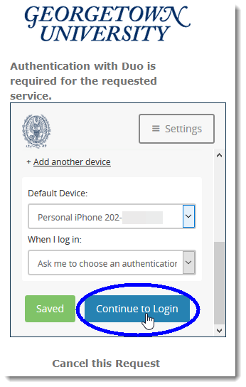 Click the button 'Continue to Login'