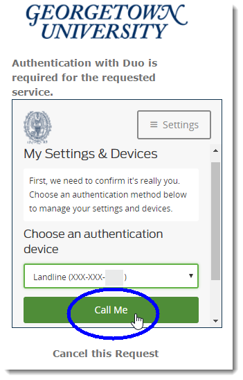 Authenticate with secondary device