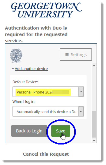 Select device as default and click Save