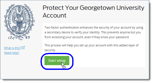 Setting up Georgetown Duo | University Information Services