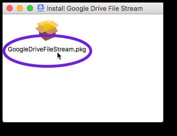 Double-click the File Stream installer file