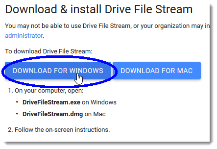 Click the Download for Windows button
