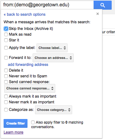 gmail filters 2