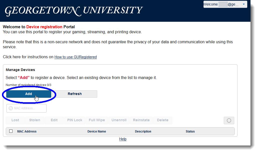 Click Add to start device adding process