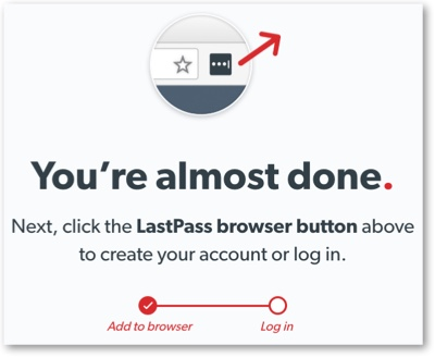 Confirmation window to create login