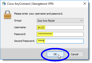 enter your NetID, password, and Duo authentication method