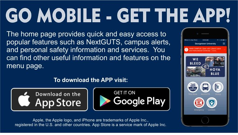 Photo advertising to get the Georgetown Mobile app