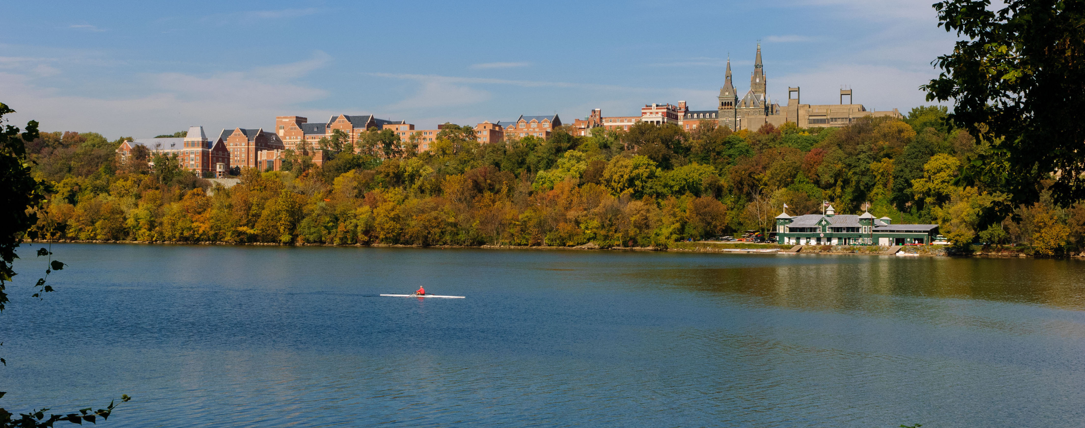 Potomac River with the Georgetown University campus in the background
