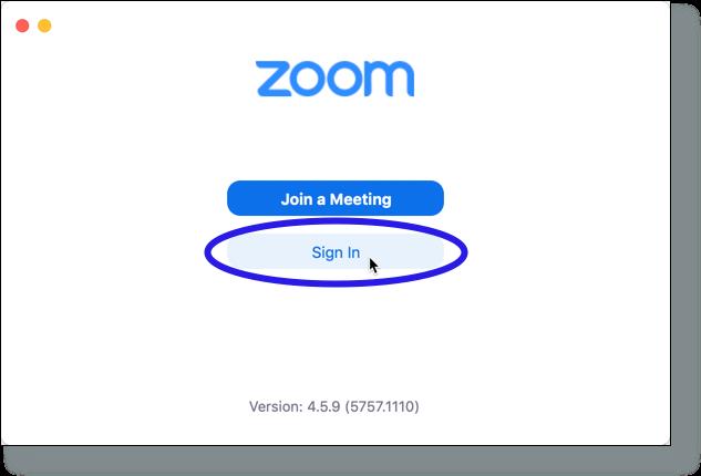 Zoom Cloud Meetings window