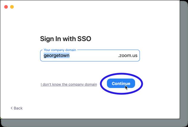Verify 'georgetown' in company domain field