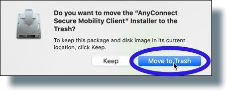 Click 'Move to Trash' to delete install file