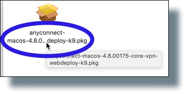 Double-click on the .pkg file icon