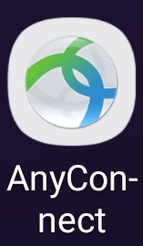 Tap AnyConnect icon to open VPN