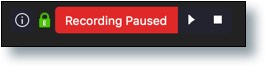 'Recording Paused' message