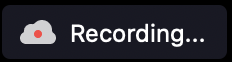 zoom recording cloud icon