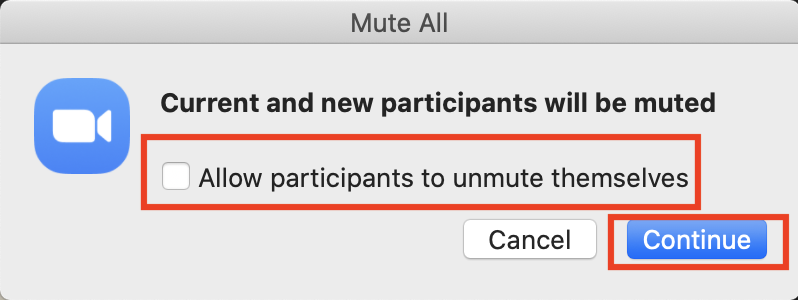 Don't allow participants to unmute