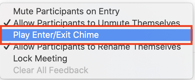 play enter/exit chime
