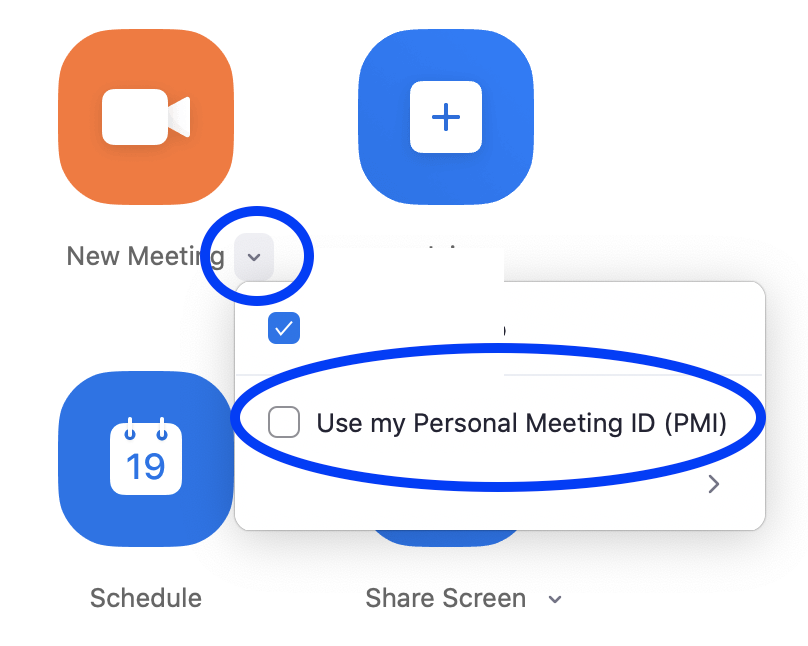 Don't use PMI for instant meeting