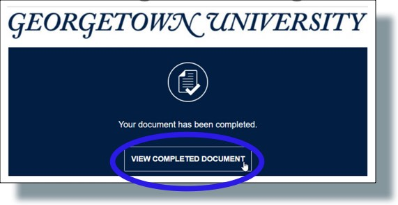 Click 'View Completed Documents' to view signed documents
