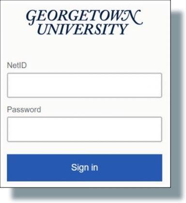GU login prompt window