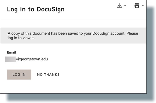 Sign confirmation window