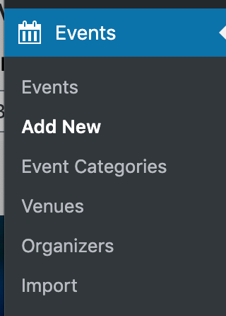 Add a new event