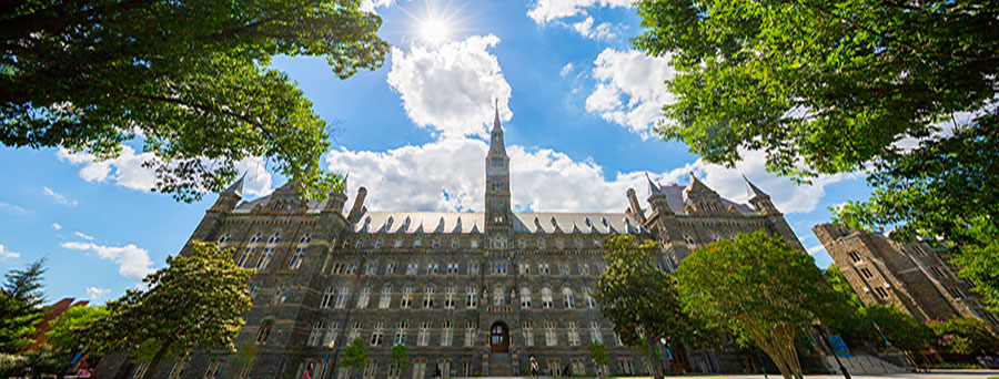 Front of Healy Hall