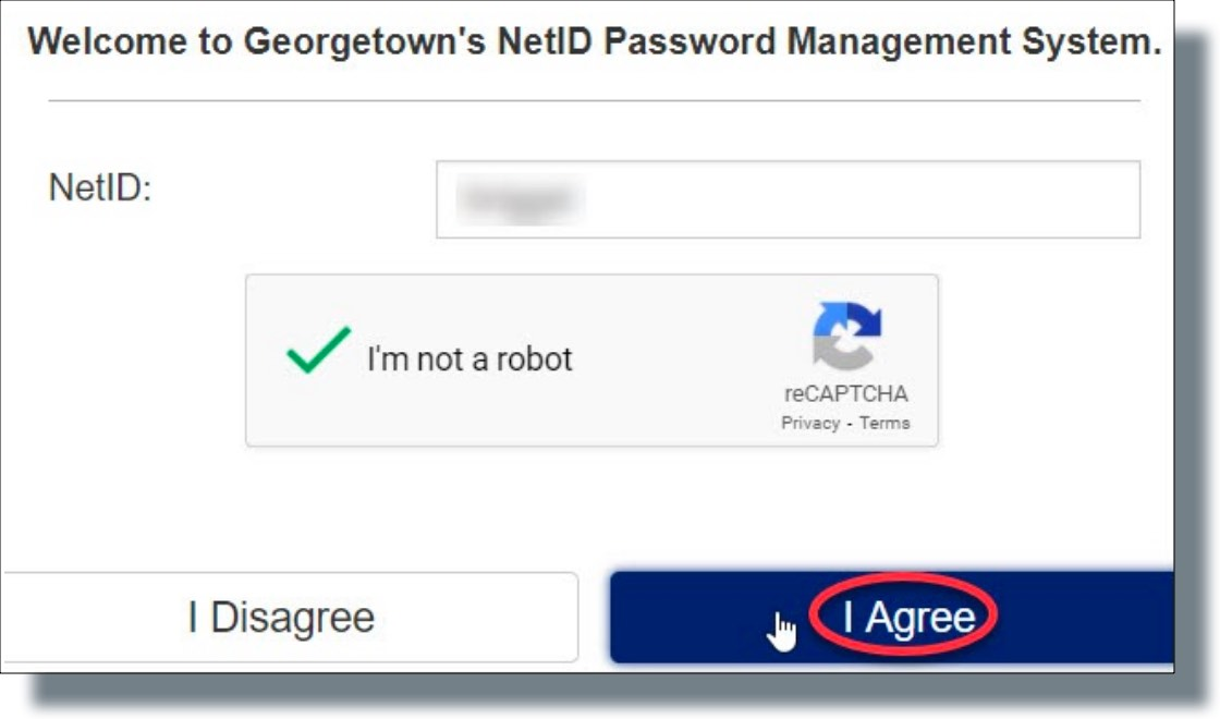 Click 'I'm not a robot' and then click 'I Agree'