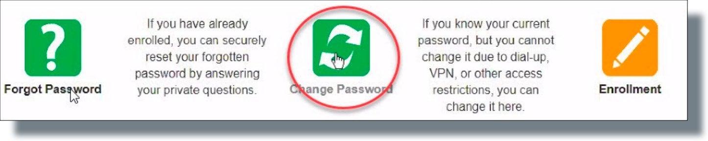 Click 'Change Password'