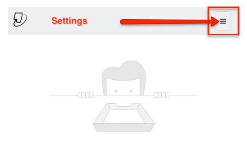 click gear icon or settings button
