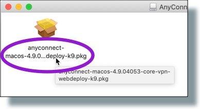 Double-click VPN installer file