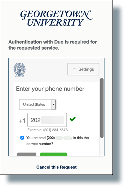 Enter phone number of device being added