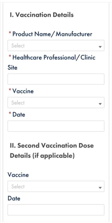 1st vaccine upload screen