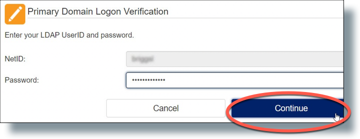 Enter your NetID and password in Password Station
