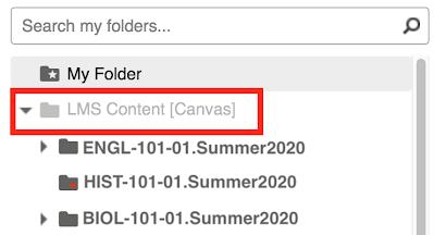 LMS Canvas Content folder